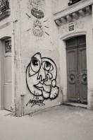 graffiti by door Paris vintage