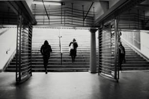metro stairs vintage